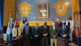El presidente de la ciudad autónoma de Ceuta fue recibido en el Ayuntamiento