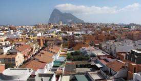 La Línea y Gibraltar al fondo