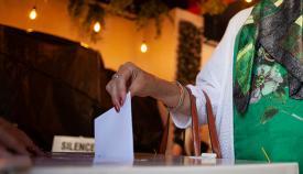 Votación electoral. Foto Sergio Rodríguez