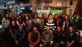Imagen de los asistentes al acto que Vox organizó en Tarifa