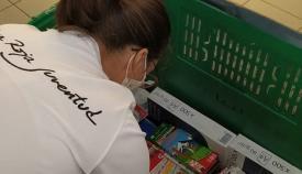 Una voluntaria de Cruz Roja. Foto: NG