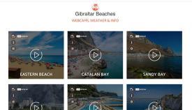 Web con imágenes en tiempo real de las playas de Gibraltar