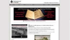 Imagen de la web del Archivo de Gibraltar que ahora celebra su 50 aniversario