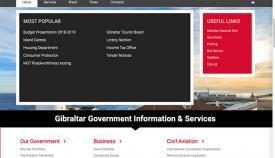 Web oficial del Gobierno de Gibraltar