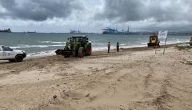 Preocupación en las playas de Algeciras por la escasez de arena existente