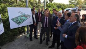El vicepresidente de la Junta durante uno de los actos de su visita hoy a Algeciras