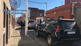 Imagen de hace unos minutos, en el barrio de la Atunara en La Línea