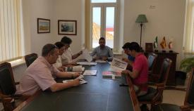 Imagen de la reunión mantenida en el Ayuntamiento