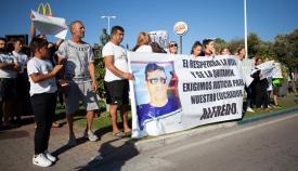 Imagen de la concentración de los familiares de Morodo el domingo