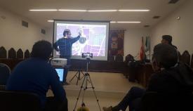 El alcalde, Juan Franco, anoche en sesión informativa del nuevo PGOU