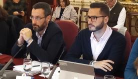 Juan Franco y Mario Fernández, este miércoles en el Pleno de la Diputación