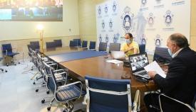 Imagen de una de las sesiones telemáticas que se han celebrado en el Ayuntamiento