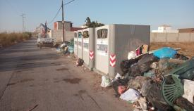 Una imagen de los contenedores difundida por el CSIF