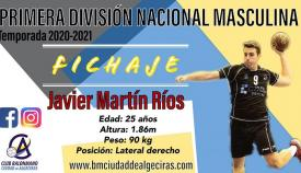 Javier Martín regresa a la disciplina del BM Ciudad de Algeciras