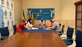 Ayuntamiento y UNED buscan soluciones para mejorar su sede en Algeciras