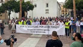 Una imagen de la concentración de esta mañana. Foto: Sergio Rodríguez