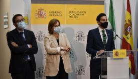 Los secretarios de Estado de Justicia y Seguridad, esta mañana en Algeciras