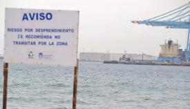 Una zona por la que se recomienda no transitar en el Puerto. Foto: Verdemar