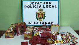 La Policía interviene más de 10 kilos de material pirotécnico en Algeciras