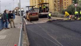 La carretera que enlaza con el puente de La Granja, reabre en Algeciras