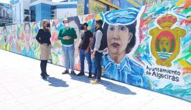Algeciras luce el mural dedicado a los colectivos frente al Covid