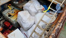 Parte de la droga encontrada durante la operación conjunta