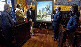 Víctor Jerez dona un cuadro al futuro centro 'Paco de Lucía' de Algeciras