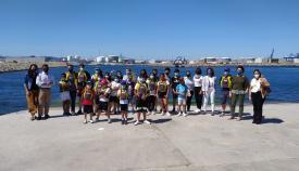 Menores del programa ERACIS Algeciras participan en un bautizo naútico