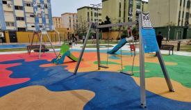 Aspecto de la recién estrenada Plaza Begoña de La Línea. Foto: NG