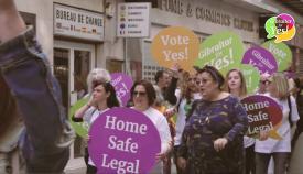 Imagen del vídeo en favor del sí en el referéndum del aborto. Foto NG