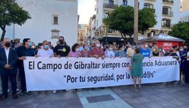 Algeciras se concentra en apoyo a los agentes de Vigilancia Aduanera
