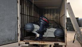 Camión y lancha incautada por la RGP. Foto NG
