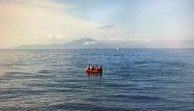 Embarcación con inmigrantes. Foto NG
