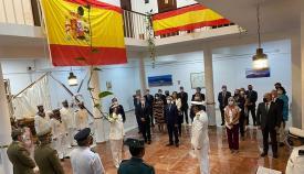 El alcalde de Algeciras asiste al acto militar de lectura de 'Leyes Penales'