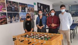 Ayuntamiento, Algeciras y Apadis trabajan en la organización de campeonatos de fútbol