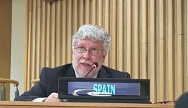 Agustín Santos, embajador español ante la ONU. Foto Twt