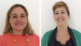 Rosa Pérez, a la izquierda, deja Salud en Manos de Zuleica Molina, a la derecha