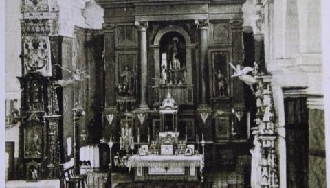 En plena iglesia, el corregidor a palos con la esposa del organista