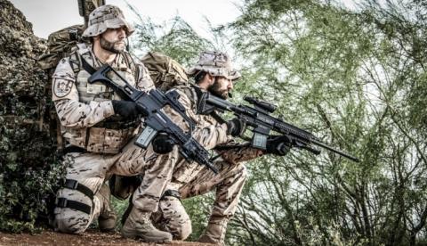 Infantes de marina de la Compañía de Reconocimiento durante un ejercicio anterior. Foto Armada/CG Flota