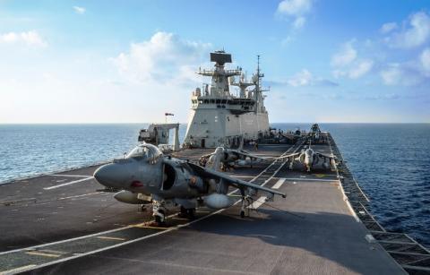 El buque anfibio portaaeronaves 'Juan Carlos I' será uno de los que se podrá visitar el 12 de octubre. Foto ARMADA
