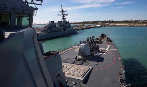 El 'USS Porter', en una imagen de archivo, entrando en la Base de Rota. Foto US Navy/ Damon Grosvenor