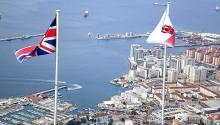Banderas de Reino Unido y Gibraltar. Foto NG