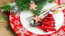 Mesa para cena de Navidad