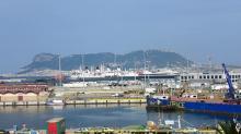 Gibraltar desde el puerto de Algeciras