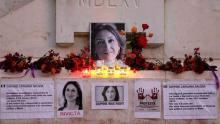 Homenaje a la periodista maltesa Daphne Caruana Galizia