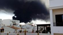 Incendio en el polígono Guadarranque