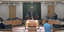 Los parlamentarios de la oposición abandonan el Parlamento de Gibraltar. Foto GSD