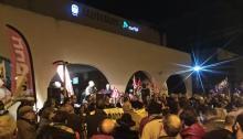 Manifestación, ayer, por el tren en la comarca