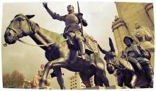 Monumento a Miguel de Cervantes en Madrid