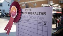 Papeleta de voto a Together Gibraltar. Foto Sergio Rodríguez
